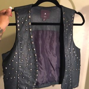 Studded Faux Leather Motorcycle Vest
